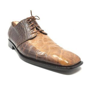 Mauri Oxfords Shoes Size 8.5 Brown Full Alligator